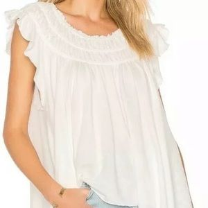 Free People We the Free Coconut Gathered Top-M